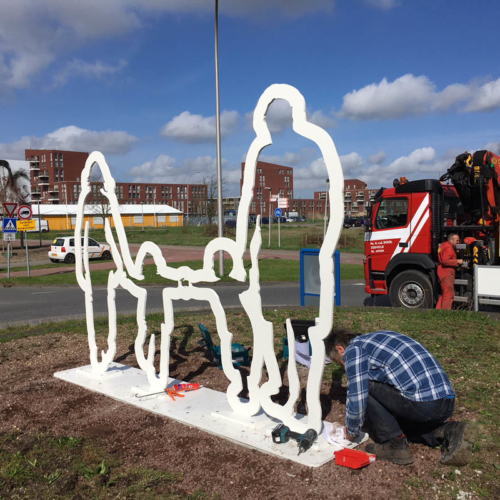 Kunstwerken 'Vriendelijke Buur'